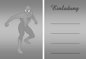 Spiderman Einladung 3