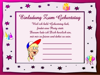 Lustige Einladungsspruche Kindergeburtstag