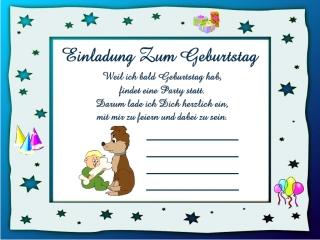 Lustige-Einladungstexte Kindergeburtstag