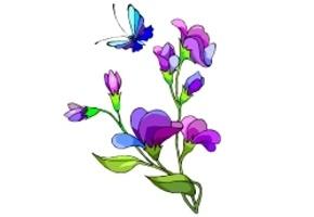 Malvorlagen Blumen Und Schmetterlinge