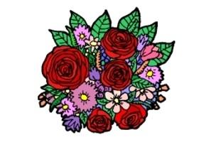 Malvorlagen Blumenstrauß Kostenlos