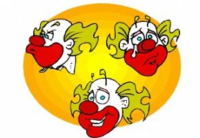 Malvorlagen Clown Gesichter