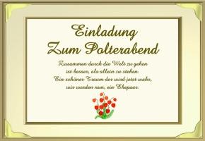polterabend einladung gedicht, Einladung