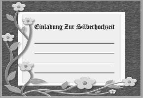 Silberhochzeit Einladung Online