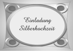 silberhochzeit einladungskarten kostenlos – cloudhash, Einladung
