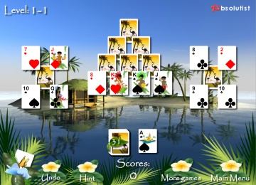 pyramid solitaire kostenlos online spielen auf denkspiele brigitte. Black Bedroom Furniture Sets. Home Design Ideas