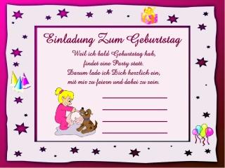 Text Einladung Kindergeburtstag