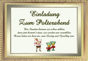 einladungskarten polterabend - vorlagen, Einladung