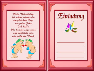 Witzige einladungsverse geburtstag kostenlos for Witzige karten kostenlos