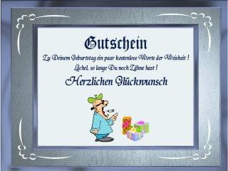 Spruch Gutschein